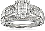 10k White Gold Diamond Engagement Ring, Size 8 (1/2cttw)