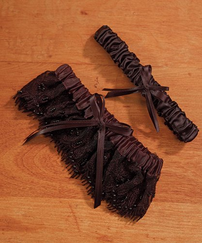 Weddingstar 5078-10 Beverly Clark Gala Collection Garter Set Black ()
