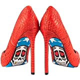TaylorSays Women's American Skull Pump Red 7