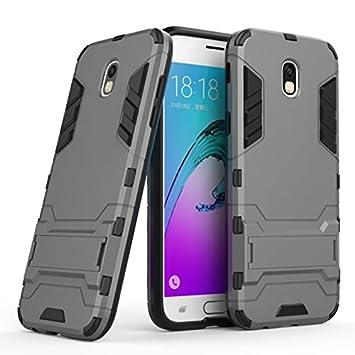 SMTR Samsung Galaxy J7 2017 Funda, Ultra Silm Híbrida Rugged Armor Case Choque Absorción Protección Dual Layer Bumper Carcasa con Pata de Cabra para ...