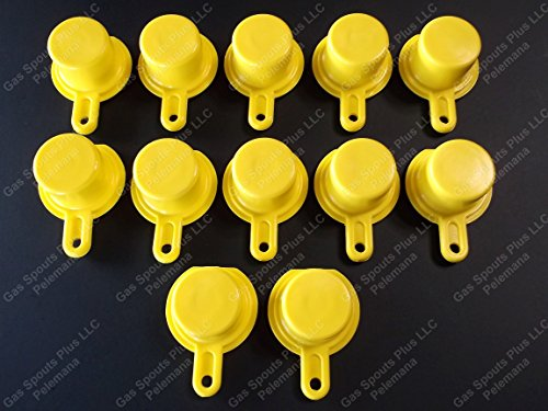 12-Pack New Blitz Gas Can Style Aftermarket YELLOW SPOUT CAP