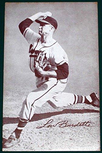 1947-66 Exhibits Arcade BB-Lew Burdette- Milwaukee Braves- Action (Exhibit Arcade)
