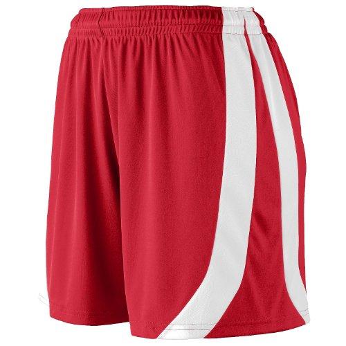 Augusta Sportswear Girls triumph short - RED/WHITE - L by Augusta Sportswear