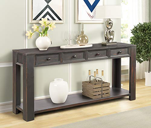 Wood Sofa Console Table - P PURLOVE Console Table for Entryway Hallway Easy Assembly 64