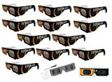 Solar Eclipse Glasses - 12 GET ECLIPSED ISO Certified, CE Approved - Sleeved Solar Shades