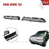 Kitty Party Pair of Front Grilles Upper Bumper Mesh Grill For BMW X5 E53 LCI 2003 2004 2005 2006