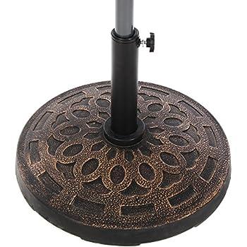 Amazon.com : Le Papillon Cast Stone Round Umbrella Base