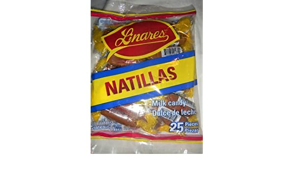 Amazon.com : 2 X Natillas Linares Goat Milk Candy Dulce De Leche Mexican Candy 50 Pcs by Natillas Linares : Grocery & Gourmet Food