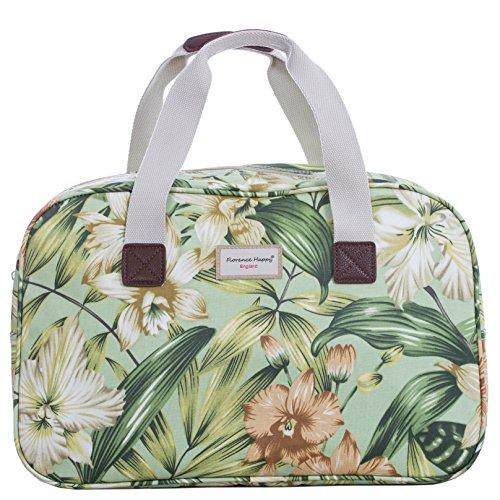 5f4b1b395 Oilcloth Holiday Travel Weekender Tote Bag Handbag Floral Owl Stripe Print