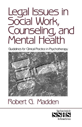 Book Services Source (Legal Issues in Social Work, Counseling, and Mental Health: Guidelines for Clinical Practice in Psychotherapy (SAGE Sourcebooks for the Human Services))