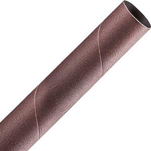 A&H Abrasives 118613, Sanding Sleeves, Aluminum Oxide, Spiral Bands, 1x9 Aluminum Oxide 60 Grit Spiral Band