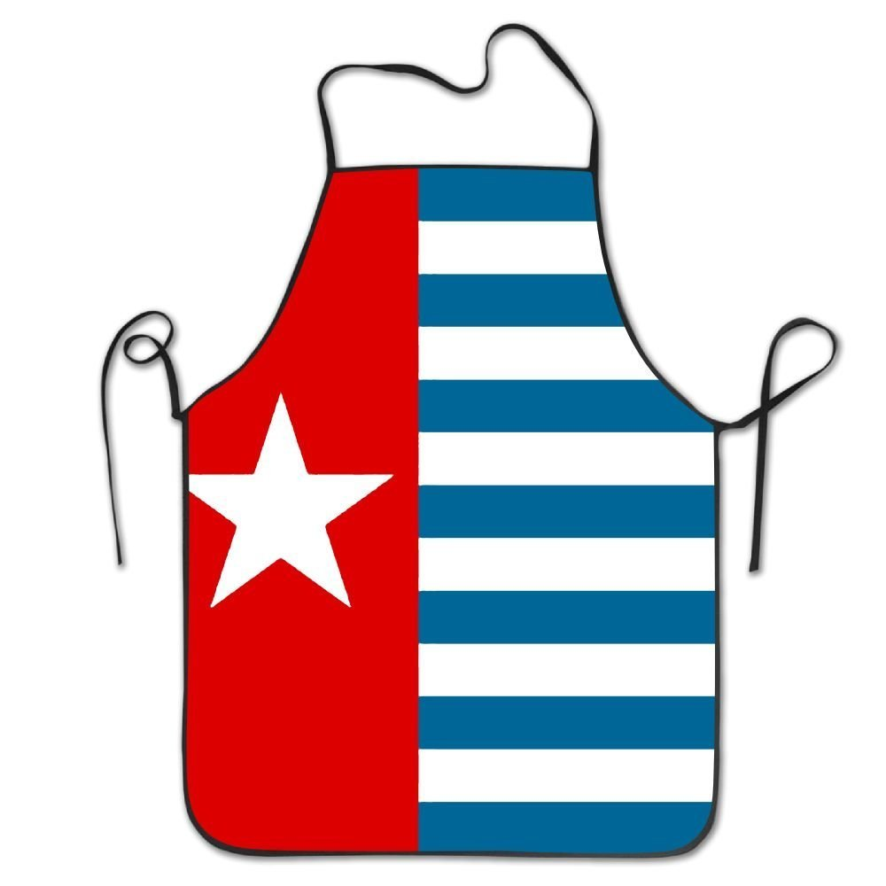 yongchuang Feng West Papua National FlagユニセックスキッチンBBQ料理シェフエプロン料理Professional大人Bibsギフトバーベキューエプロン   B07D6MLGKH