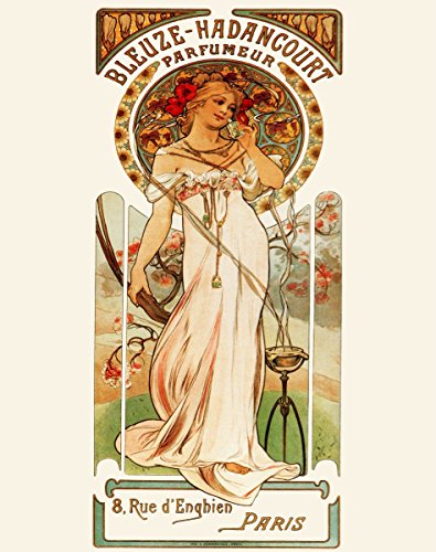 (20x30 Decoration Poster.Room Interior Art Design.French Nouveau.Perfume.7476)