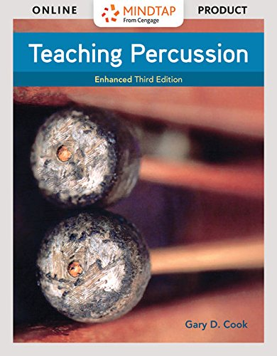MindTap Music for Cook's Teaching Percussion  - 6 months -  3rd Edition [Online Courseware] by Cengage Learning