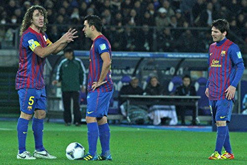 (Quality Prints - Laminated 35x24 Poster Puyol Xavi Messi FC Barcelona Team of The Year 2011)
