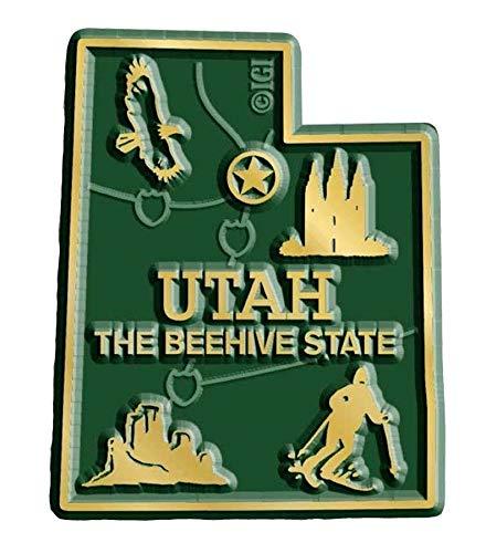 (Utah State Map Fridge Magnet)