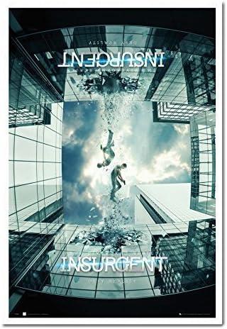 iPosters Insurgente El Serie Divergente Teaser Póster magnético tablón de anuncios Blanco Enmarcado – 96,5 x 66 cms (Aprox 38 x 26 Pulgadas): Amazon.es: Hogar