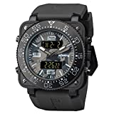 INFANTRY Mens Camouflage Tactical Military Digital Heavy Duty Camo Sport Wrist Watch with Rubber Band