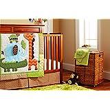 Elephants Crocodiles 10pcs crib set Baby Bedding Set Crib Bedding Set Boy Nursery Crib Bumper bedding with blanket Diaper bag Curtain