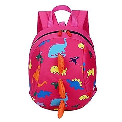 e672b75247f5 Toddler Safety Harness Backpack Kids Walker Daypack Cartoon Dinosaur  Rucksack Baby Prevent Lost Walking Shoulder Bag
