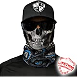 SA Company Face Shield Micro Fiber Protect from Wind, Dirt and Bugs. Worn as a Balaclava, Neck Gaiter & Head Band for Hunting, Fishing, Boating, Cycling, Paintball and Salt Lovers. - Tapestry Skull