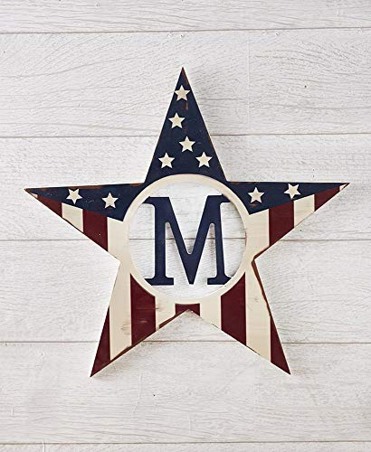 LTD Monogram Patriotic Star Wall Hanging, M