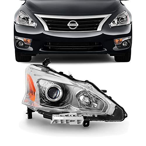 4dr Headlamp Headlight Light - For 13-15 Altima 4 Doors Sedan Halogen Type Headlight Lamp Passenger Right Side Direct Replacement