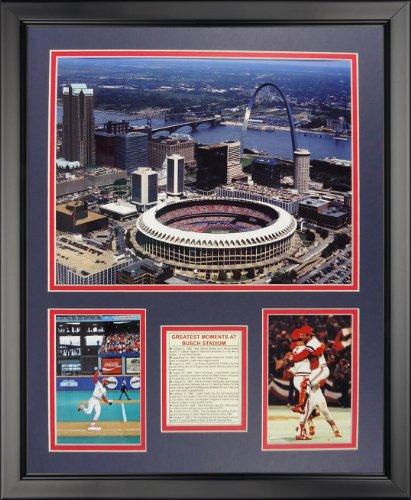 Legends Never Die Busch Stadium - Old Framed Photo Collage, 16
