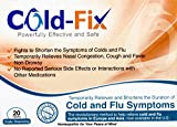 Cold-Fix for Adults - Temporarily relieves and Shortens The Duration of Cold and Flu Symptoms by Supporting The Body's Natural Immune System - 20 Count Tablets