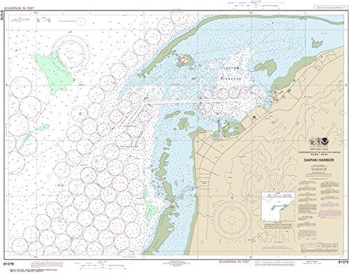 MapHouse NOAA Chart 81076 Commonwealth The Northern Mariana Islands Saipan Harbor: 30.09