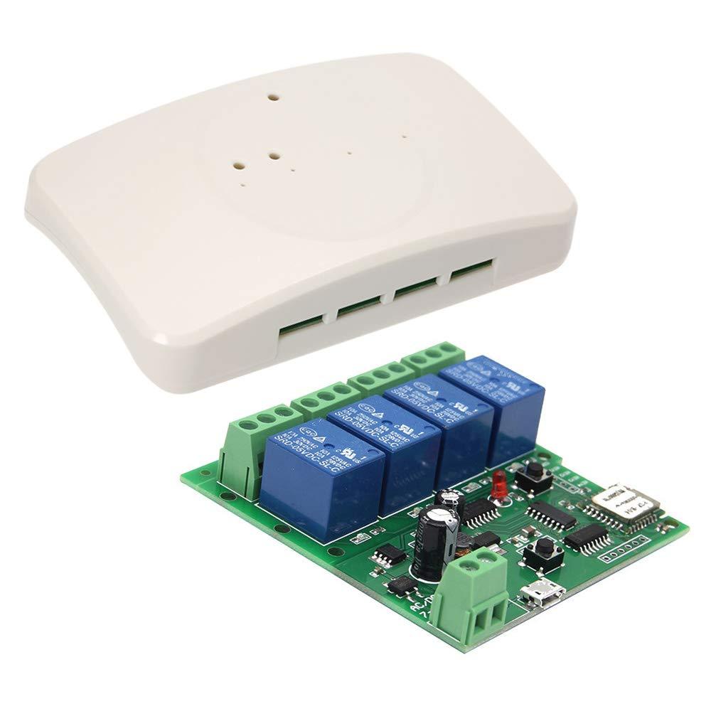 Festnight Smart Wireless Fernbedienung Schalter Sonoff, DC 5V 12V 32V Universal Modul 4CH Wifi Switch Telefon APP Fernbedienung Festnight-1
