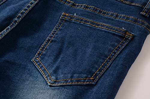 Boy's Fashion Skinny Fit Ripped Distressed Stretch Slim Denim Jeans with Holes 14 by DEITP (Image #4)