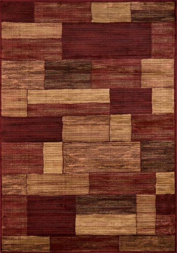 Momeni Rugs DREAMDR-04RED5376 Dream Collection, Contemporary Area Rug, 5'3
