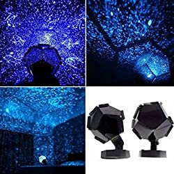 Star Projection Lamp ,Promisen Celestial Star Cosmos Projector Starry Sky Night Light for Children Adults Bedroom BLUE