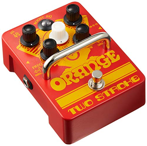 Orange Two Stroke Active Dual-Parametric EQ/Boost Guitar Effects Pedal (Best Rated Cajon Drum)