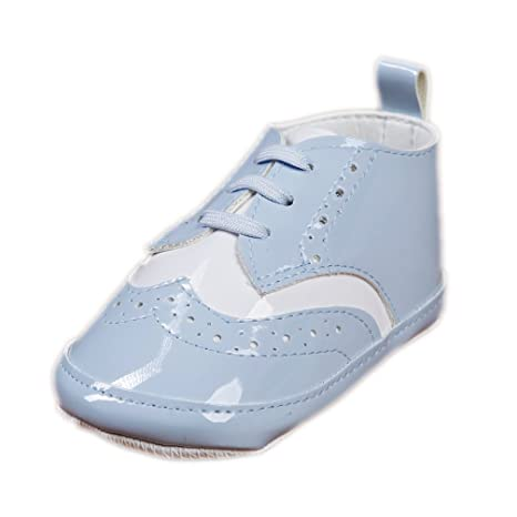 08c4228d05af29 Babyschuhe für Jungen Festliche Taufschuhe hellblau weiß Schnürer Lack  Modell 6116  Amazon.de  Bekleidung