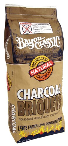 Bayou Classic 500-416, 16-lbs Bag Natural Charcoal Briquets
