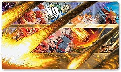 Alfombrilla de Juego para Juegos de Mesa de MTG con diseño de Lluvia de Piedra, tamaño 60 x 35 cm, Alfombrilla de Juego para Yugioh Pokemon Magic The Gathering: Amazon.es: Oficina y