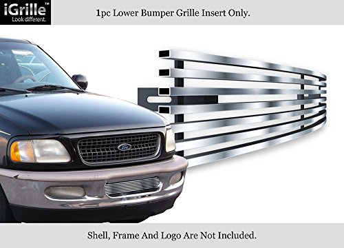 APS Compatible with 97-98 Ford F-150 4WD Expedition Bumper Stainless Steel Billet Grille F85038C ()