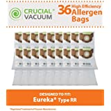 36 Eureka Style RR Vacuum Bags Designed to Fit Eureka 4800 Series Upright Vacums, Compare To Part # 61115, 61115A, 61115B, 63295A, Designed & Engineerd By Crucial Vacuum