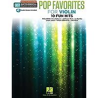 Pop Favorites: Violin Easy Instrumental Play-Along Book with Online Audio Tracks