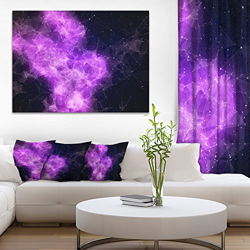 Fractal Violet Nebula Abstract Canvas Art Print