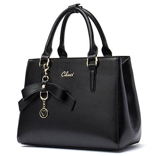 women Handbags leather Top-handle Bag for Purse Ladies Designer Satchel Shoulder Bags (Purse Designer Purses)