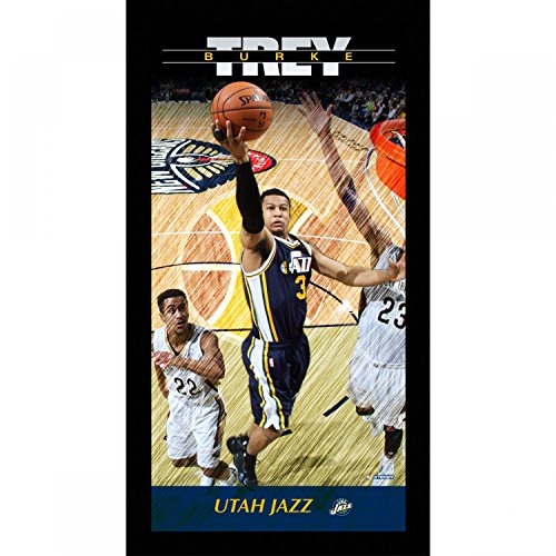 Trey Burke Utah Jazz Player Profile Wall Art 9.5x19 Framed Photo