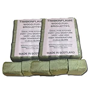 Wood Fuel Briquettes - For all types of Wood Burning & Multi-Fuel Stoves, Chimeneas and Firepits - 2 Packs