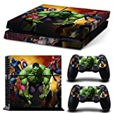 EBTY-Dreams Inc. - Sony Playstation 4 (PS4) - Marvel Super Heroes Spiderman Psylocke Logan Hulk Captain America Black Widow Hawkeye Vinyl Skin Sticker Decal Protector
