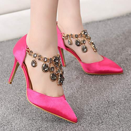 Scarpe Sposa Da Rose Eu Dimensione Strass E Red Qiusa Donna Rosso colore 43 Con Yd7wqY5