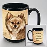 Dog Breeds (A-K) Chihuahua 15-oz Coffee Mug Bundle Depicting Long Haired Fawn with Non-Negotiable K-Nine Cash by Imprints Plus (055)