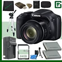 Canon PowerShot SX520 HS Digital Camera (Black) + 64GB Green's Camera Bundle 2 Benefits Review Image