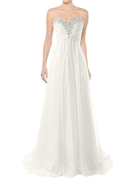 Amazon.com: JAEDEN Vestidos de novia de la playa vestidos de ...